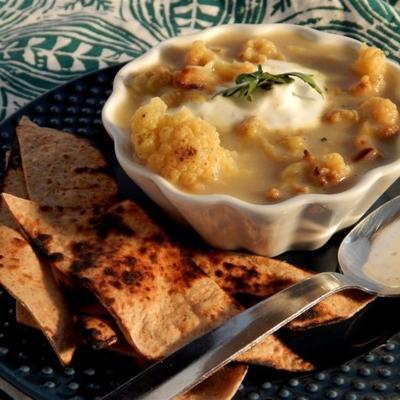 sopa de couve-flor assada de curry