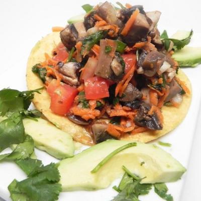 ceviche de cogumelos vegan