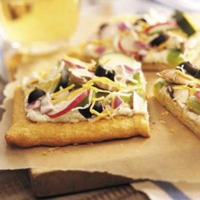 pizza vegetal fria