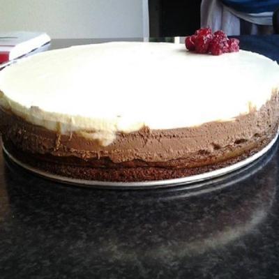 bolo de camada de chocolate mascarpone