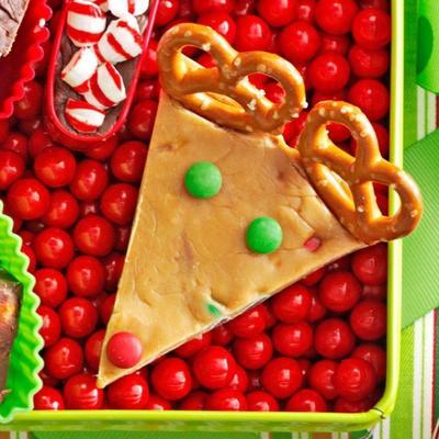 fudge festivo da barra de chocolate