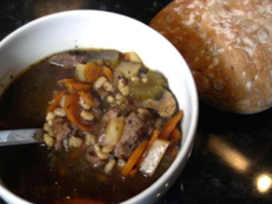 ensopado de carne cevada / sopa