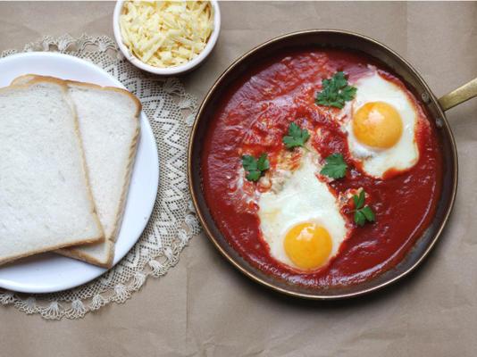 ovos escalfados de ressaca