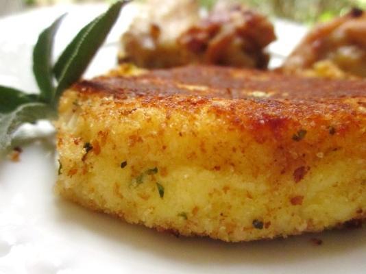 croquetes de batata com queijo parmesão