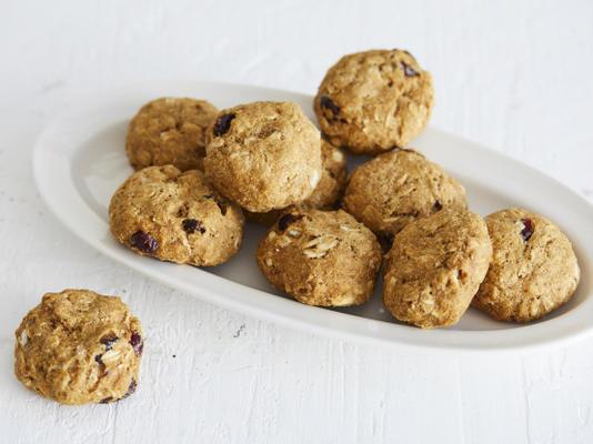 cookie de café da manhã amora abóbora