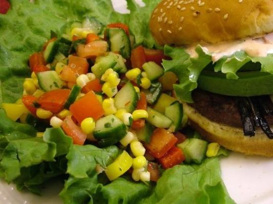 salada de pepino-milho fiesta