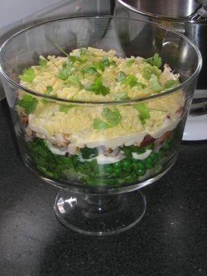 salada de alface em camadas