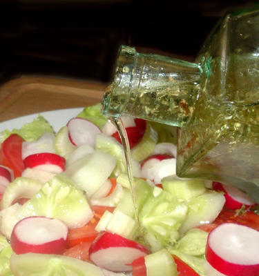 molho de salada de azeite e vinagre