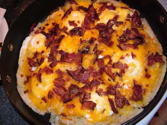 ovo, bacon e hash browns caçarola