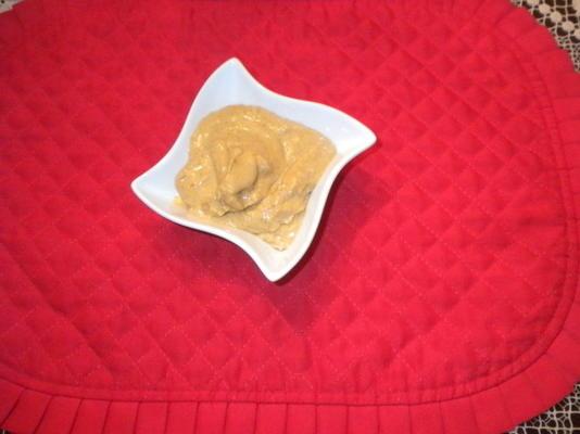 propagação de queijo creme de abóbora tempero