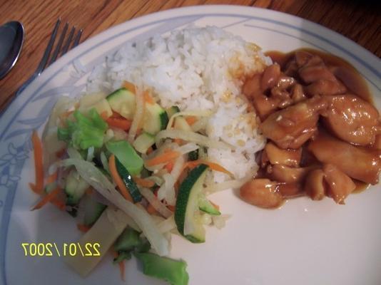 tigela de arroz de frango