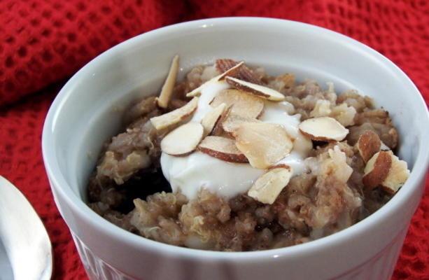 mingau de café da manhã quinoa e cevada