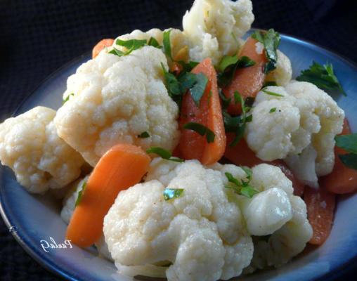 salada de couve-flor e cenoura cominho