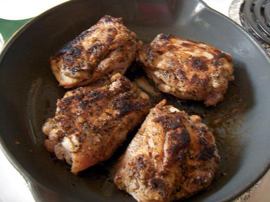 coxas de frango jamaicano