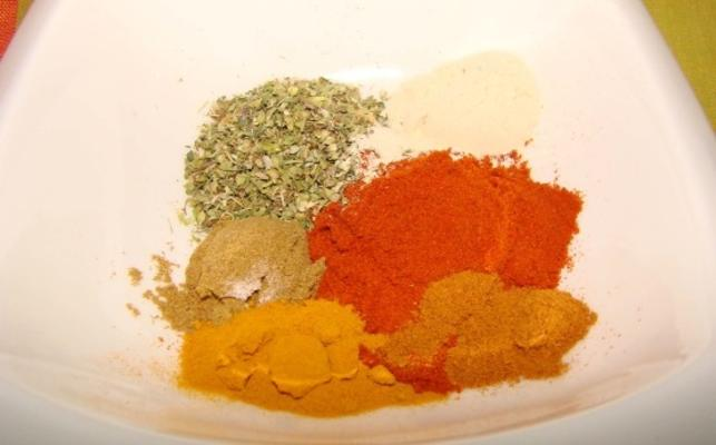 pó de pimenta sem sal