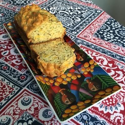 pão de queijo de abobrinha com ervas
