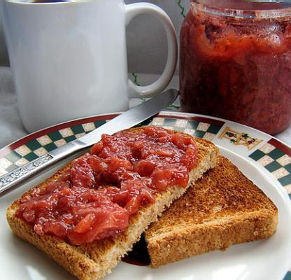 muito fácil e bom geléia de morango sem açúcar / spread