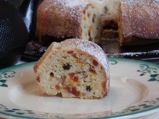 bolo de café da manhã de damasco