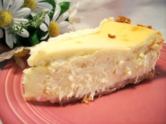 cheesecake de limão com crosta de biscoito de shortbread