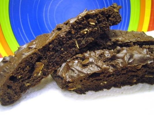 mistura de bolo chocolate amêndoa biscotti