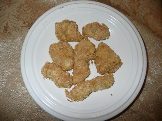 pepitas de galinha crocantes do alho de jamie oliver
