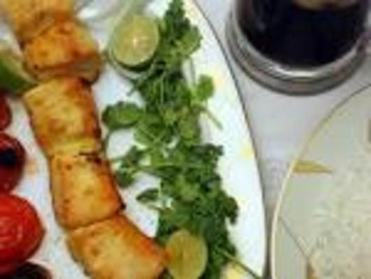 joojeh kabob (frango grelhado estilo persa)