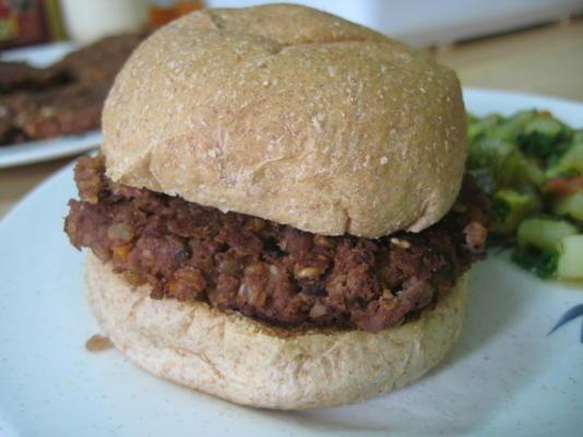hambúrgueres de noz lentilha