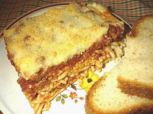 espaguete e caçarola