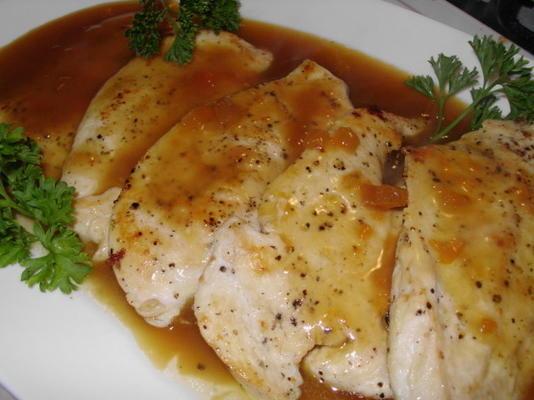 peitos de frango com esmalte laranja oriental