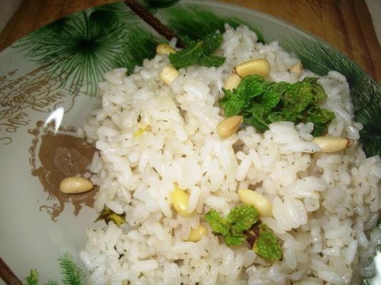 arroz com pinhões