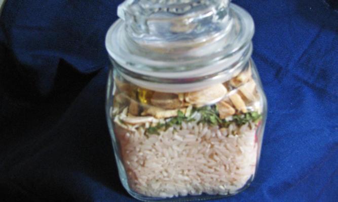 mistura de arroz de amêndoa