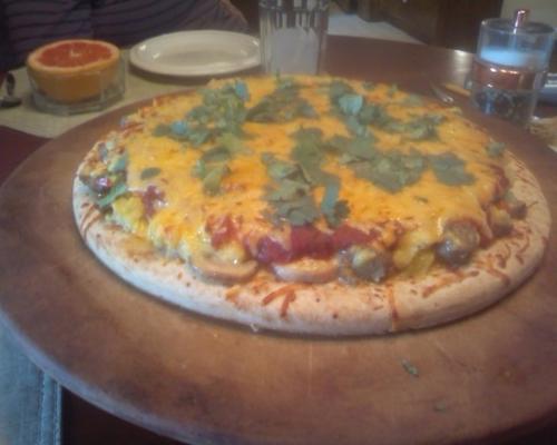 a pizza favorita do café da manhã de emily