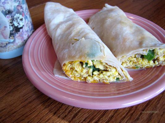 burrito do café da manhã do papa d
