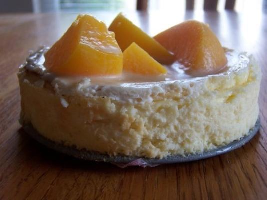 cheesecake de pêssego caramelado