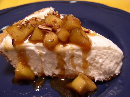 cheesecake decadente com compota de maçã maple