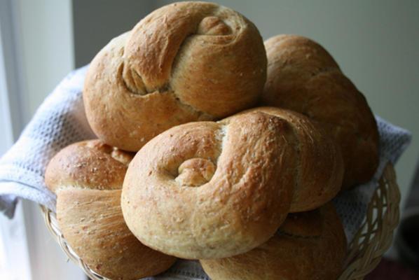 60% de rolos de trigo integral da kittencal