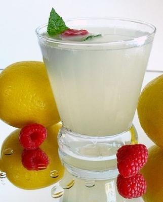 limonada de menta framboesa