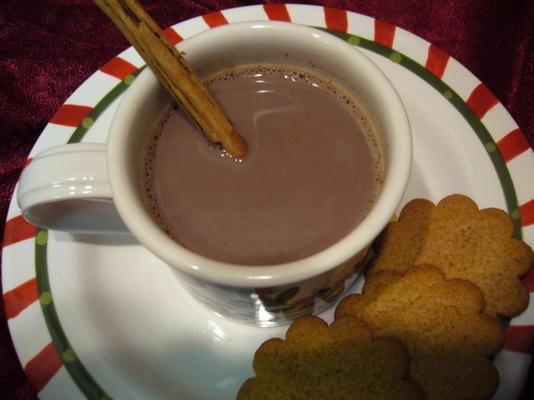 chocolate quente de manhã de natal