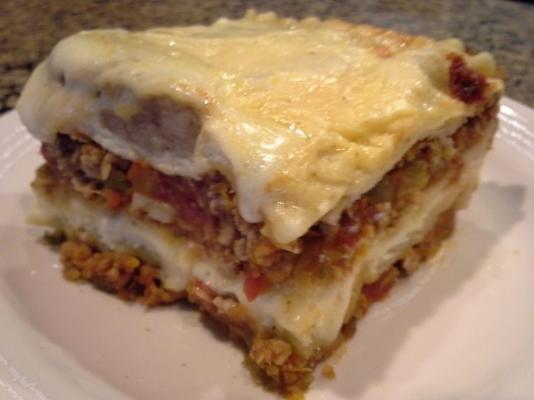 lasanha clássica com molho de carne, tomate e molho bechamel (l