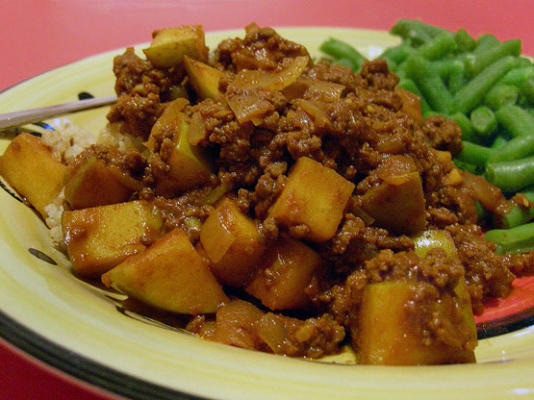 carne moída ao curry