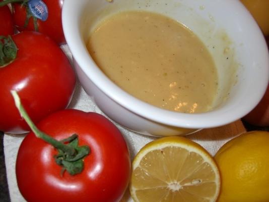 molho vinagrete de limão fresco (zitronenvinaigrette)