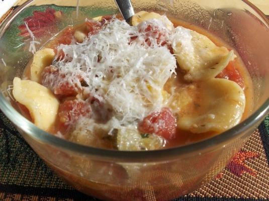 sopa ravioli rápida e simples