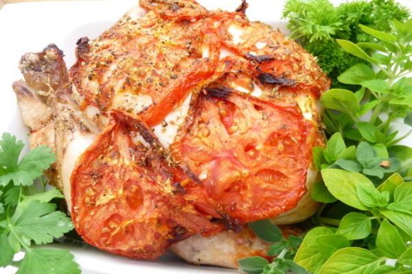 oregano grego e canela frango assado