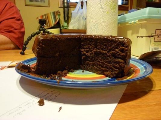 realmente chocolate bolo de chocolate com cobertura de chocolate fudge