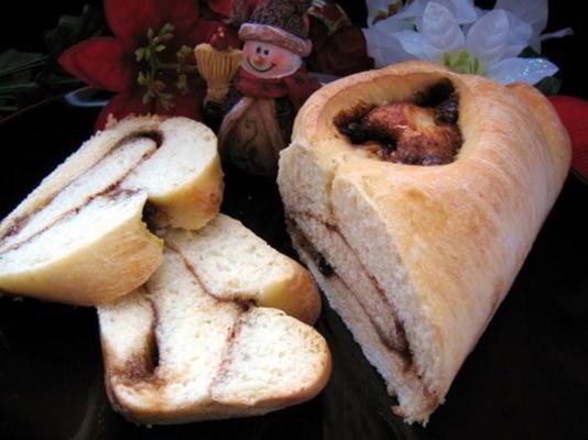 pão de canela natal