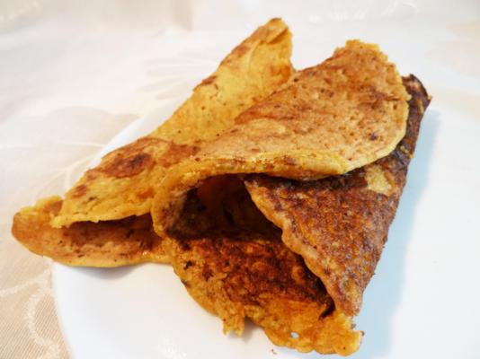 panqueca de farinha de lentilha vegan