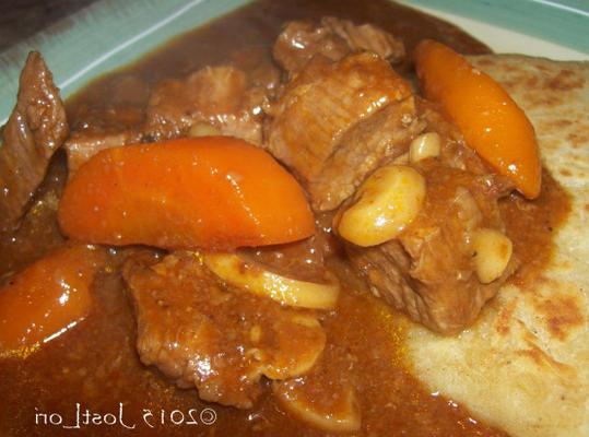 carne assada guinness com cogumelos