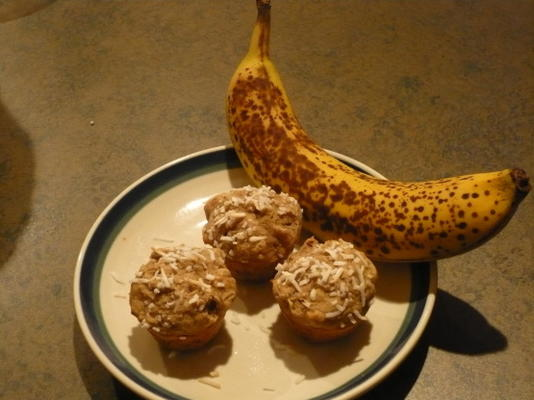 Muffins de mel de banana sem glúten e trigo