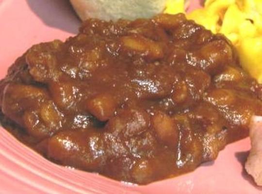 novos feijões cozidos mexicanos