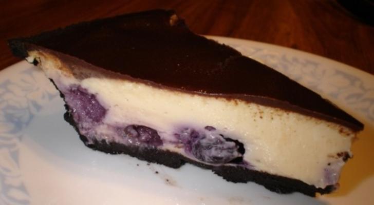 torta de queijo de framboesa chocolate